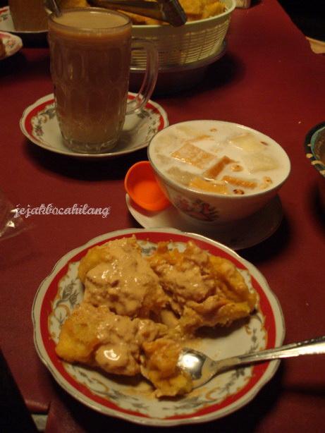 carabak + wedang angsle + wedang susu jahe