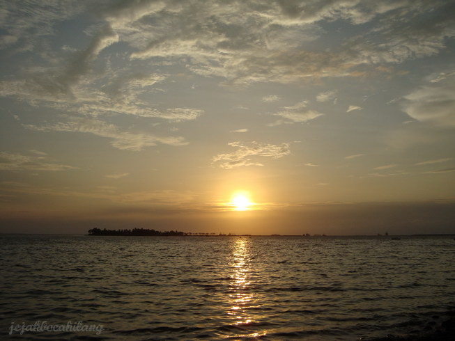 view sunset dari Losari