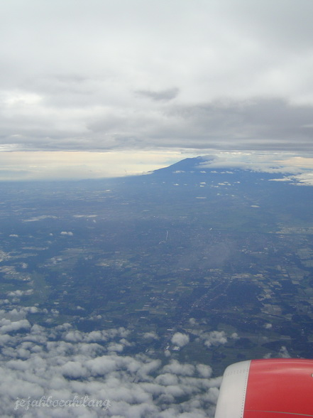 Merapi view from Jogja sky