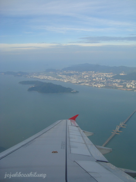 Penang bridge from the sky