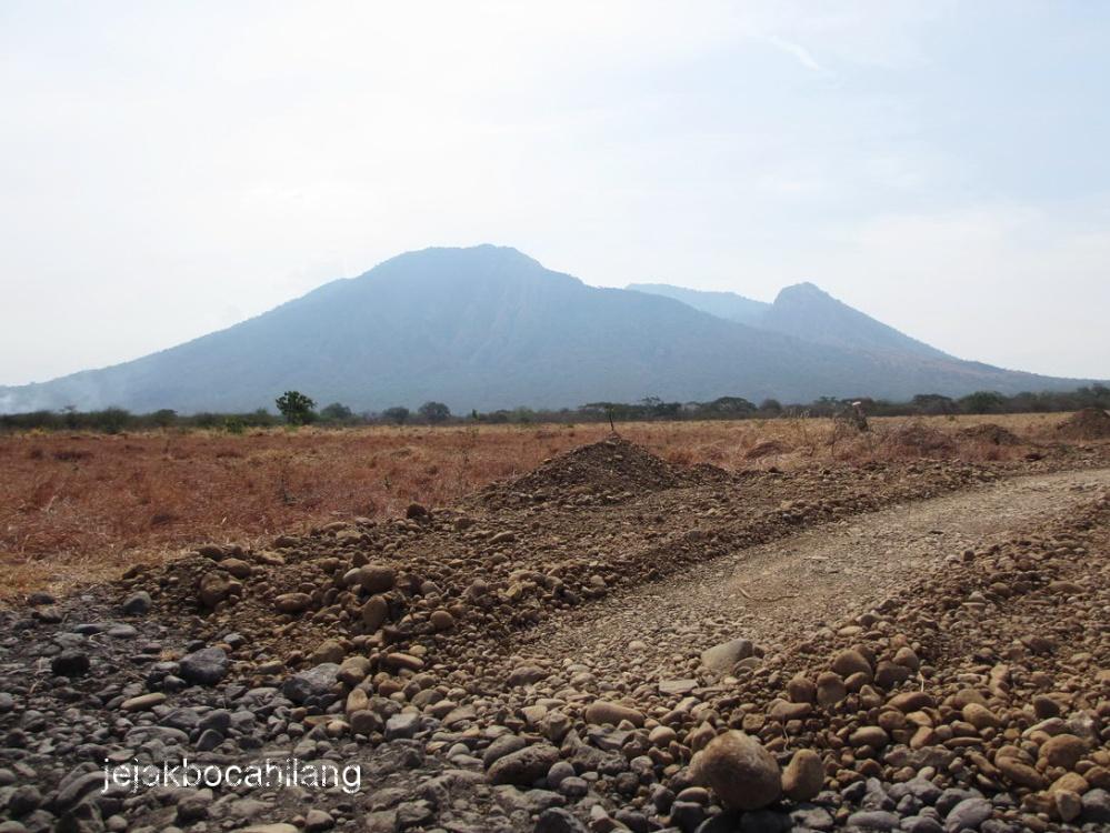 Gunung Baluran dari kejauhan