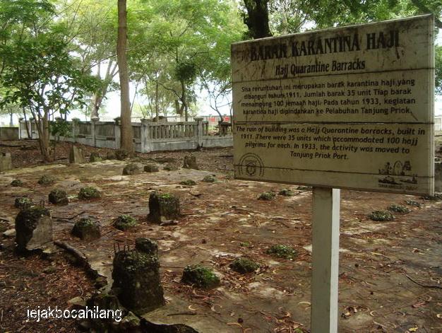 bekas barak karantina haji di Pulau Onrust
