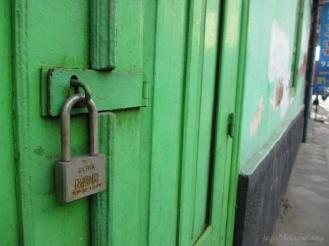 green door in Kotagede - Jogja