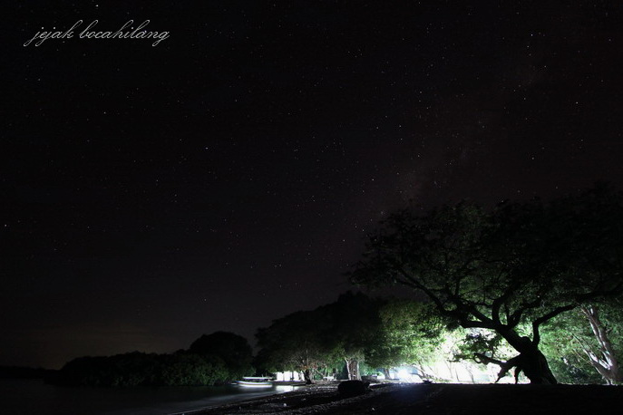 milky way Pantai Bama