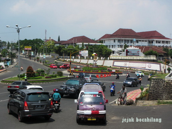 bundaran Kantor Walikota Bandar Lampung