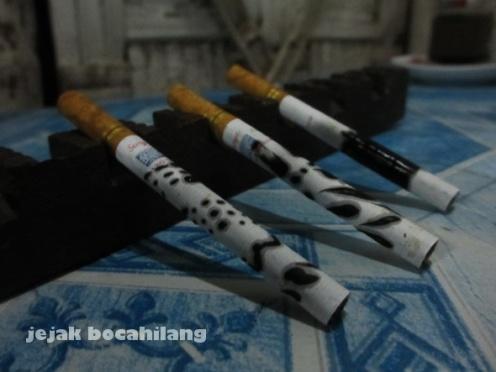 batang rokok yang sudah dilelet