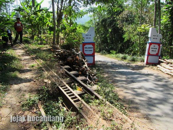 jalur rel gigi di Dusun Selo