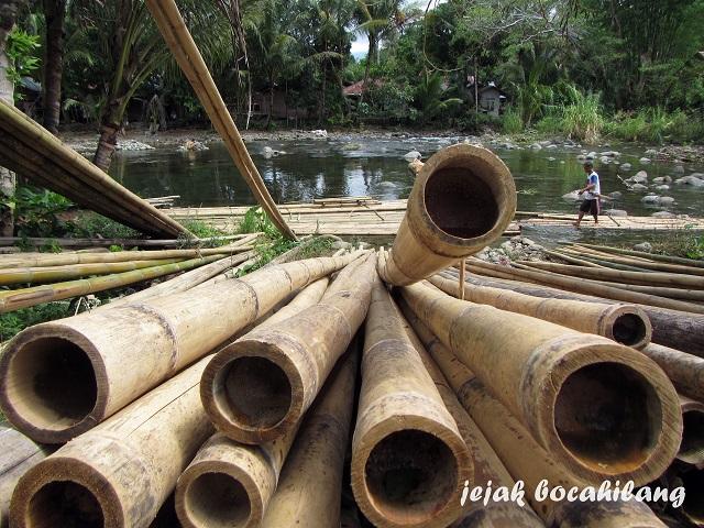 bambu atau paring untuk dirakit jadi lanting