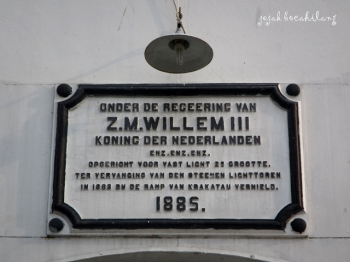 prasasti Mercusuar Z.M Willem III Anyer