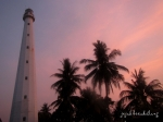 sunset di Mercusuar Z.M Willem III Anyer