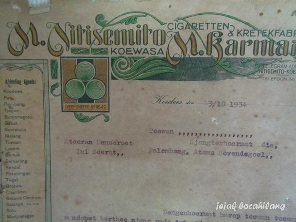 surat kuasa Nitisemito dan M Karmain, koleksi Museum Kretek