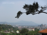 view Bandar Lampung dari atas bukit