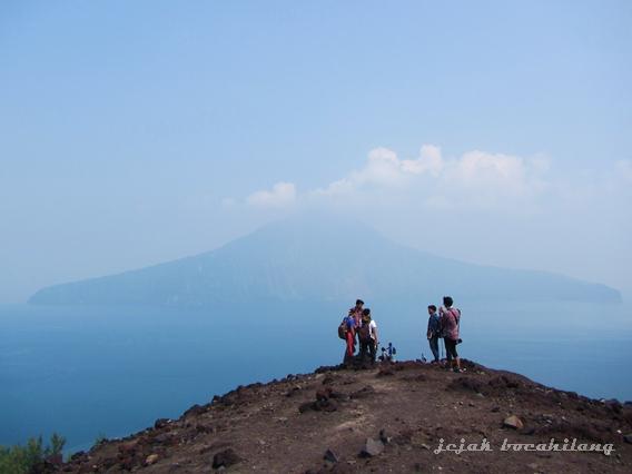 view dari Gunung Anak Krakatau, Lampung