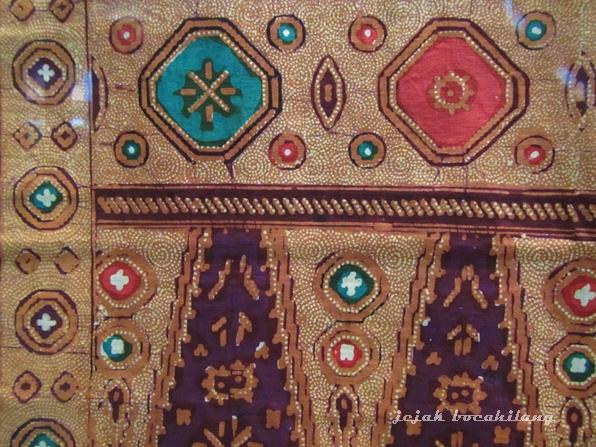 salah satu motif Jlamprang di Museum Batik Pekalongan