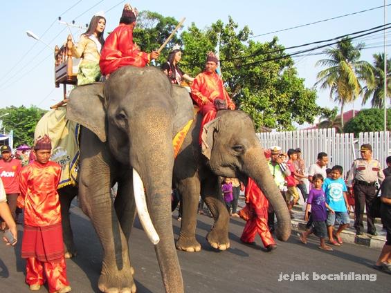 Gajah Sumatera di Lampung Carnival 2015