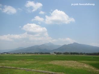 view di jalan menuju Stasiun Ambarawa