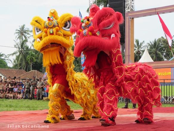 Tari Barongsai dari Paguyuban Tionghoa Kabupaten Tanggamus