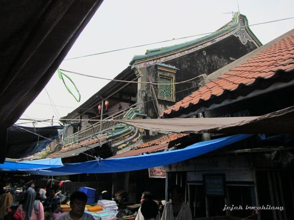 suasana pagi Pasar Lama Tangerang