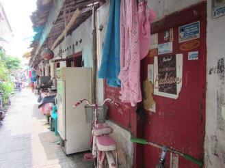 pemukiman di sekitar Pasar Lama Tangerang