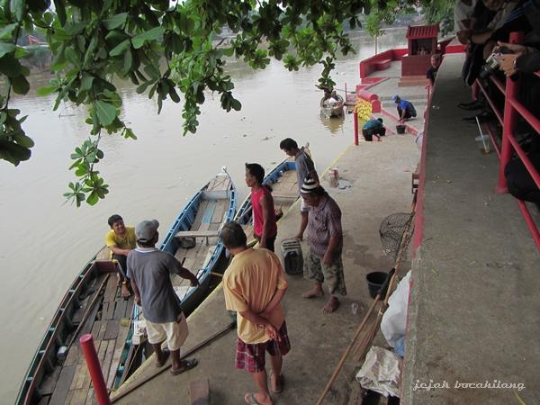 perahu-perahu Sungai Cisadane