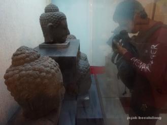 kepala Buddha di Studio Sejarah Restorasi Candi Borobudur