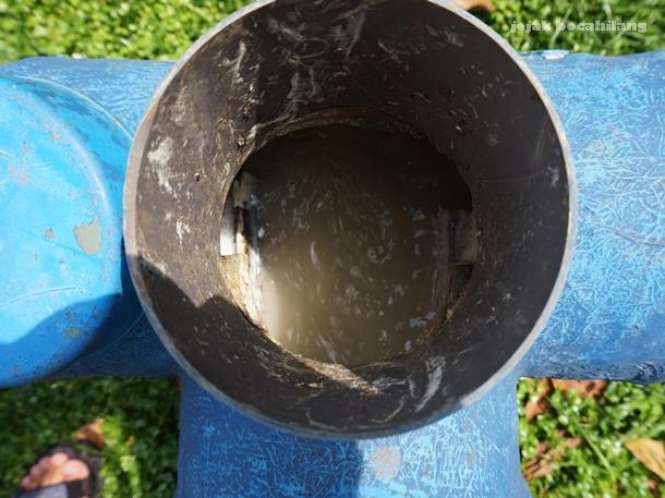limbah cair yang masuk ke bioreaktor di Desa Kalisari