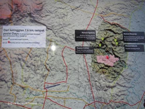 peta klaster baru di Sangiran
