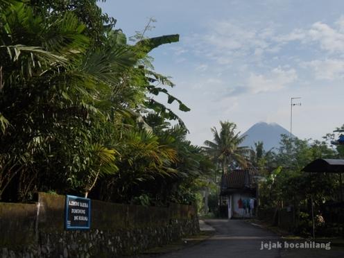 Gunung Merapi dari Desa Pancoh