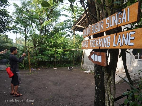 susur sungai Desa Ekowisata Pancoh