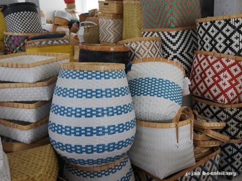 hasil kreasi kerajinan bambu Tunggak Semi