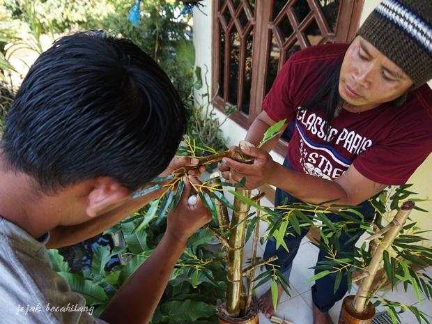 pengrajin limbah bambu Boonpring