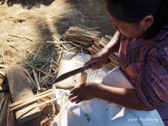 pengrajin bambu Desa Sanankerto