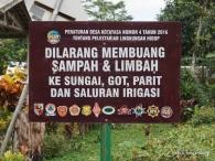 dilarang mengotori lingkungan