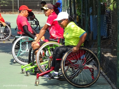atlet tenis kursi roda Indonesia