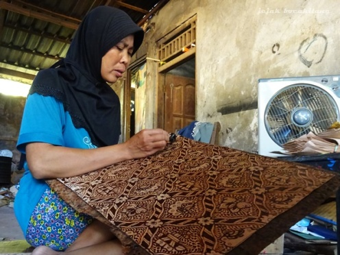 batik kulit Klaten